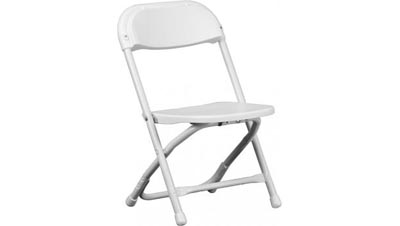 White Kiddie Folding Chairs